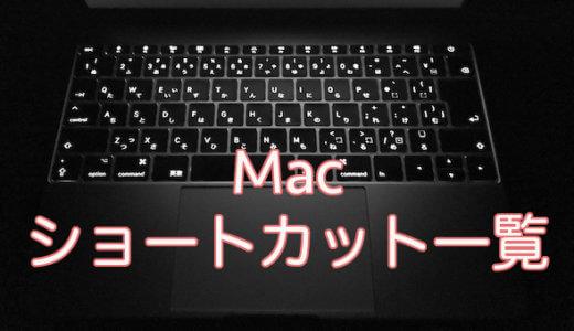 Macの便利なキーボードショートカット一覧